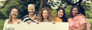 Group of Women Socialize Teamwork