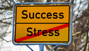Stress town sign