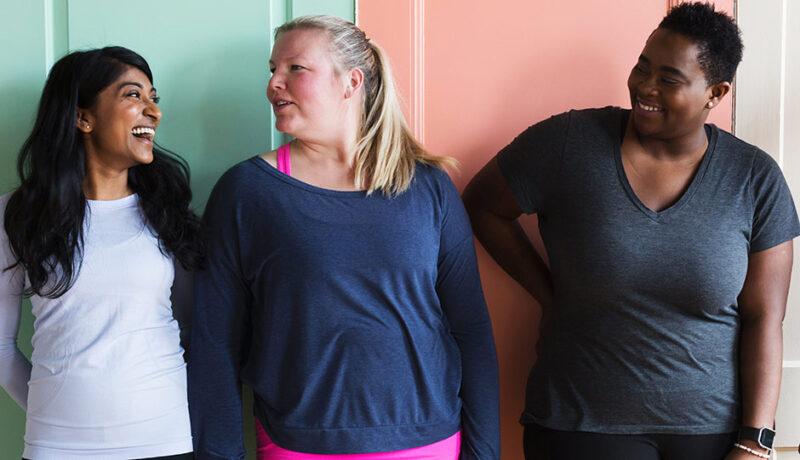 Three Women Laughing